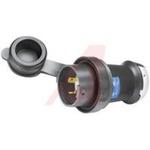 Electrical Plug; 20 A; 250 V; Black Valox; White Valox; Steel, Nickel Plated