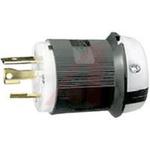 Electrical Plug; 30 A; 125 VAC; 0.360 to 0.930 in.; Nylon; Nylon; Steel; Brass