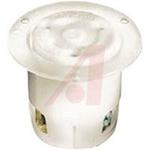 Receptacle, Twist-Lock; 30 A; 125 VAC; L5-30R; White; Steel-Nickel Plated
