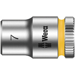 Wera 7mm Hex Socket With 1/4 in Drive , Length 23 mm