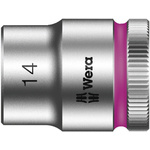 Wera 14mm Hex Socket With 3/8 in Drive , Length 29 mm