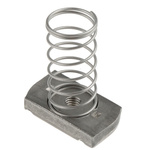 Unistrut Channel Nut, M6, Nut Base Dimensions 41 x 41mm, Stainless Steel, 40g
