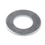 Bright Zinc Plated Steel Plain Washer, 0.9mm Thickness, M6 (Form B)