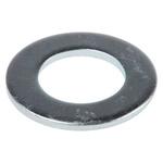 Bright Zinc Plated Steel Plain Washer, 2.2mm Thickness, M16 (Form B)