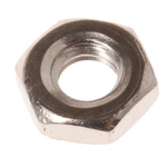 RS PRO Brass Half Hex Nut, Nickel Plated, M3