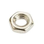 RS PRO Brass Half Hex Nut, Nickel Plated, M4
