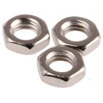 RS PRO Brass Half Hex Nut, Nickel Plated, M5