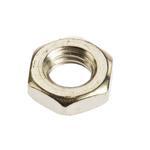 RS PRO Brass Half Hex Nut, Nickel Plated, M6