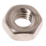 RS PRO Brass Hex Nut, Nickel Plated, M3