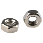 RS PRO Brass Hex Nut, Nickel Plated, M3.5