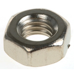 RS PRO Brass Hex Nut, Nickel Plated, M4