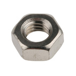 RS PRO Brass Hex Nut, Nickel Plated, M6