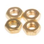 RS PRO Brass Hex Nut, Plain, M2