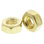 RS PRO Brass Hex Nut, Plain, M4