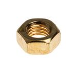 RS PRO Brass Hex Nut, Plain, M5