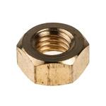 RS PRO Brass Hex Nut, Plain, M8