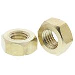 RS PRO Brass Hex Nut, Plain, M10