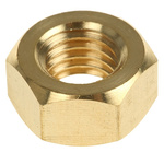 RS PRO Brass Hex Nut, Plain, M12