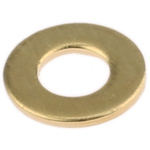 Brass Plain Washer, 0.8mm Thickness, M4