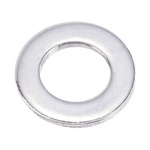 Chrome Plated Steel Plain Washer, 0.5mm Thickness, M3