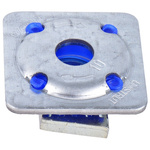 Unistrut Channel Nut, M8 x 41 mm, Nut Base Dimensions 40 x 40mm, Zinc Plated Steel, 0.06g