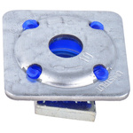 Unistrut Channel Nut, M12 x 41 mm, Nut Base Dimensions 40 x 40mm, Zinc Plated Steel, 0.055g