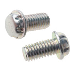 Zinc Plated Flange Button Steel Tamper Proof Security Screw, M3 x 6mm