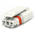 TE Connectivity, SlimSeal Connector Miniature Male 2 Pole 2 Way Miniature, Cable Mount, Rated At 5A, 400 V ac