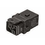 HARTING Han 1A Heavy Duty Power Connector Insert, 2 contacts, 10A, Female