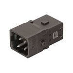 HARTING Han 1A Heavy Duty Power Connector Insert, 3 contacts, 10A, Male