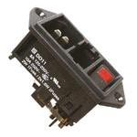 Schurter C14 Panel Mount IEC Connector Male, 10.0A, 250.0 V, Fuse Size 5 x 20mm