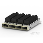 TE Connectivity CFP4 Connector, Cage & Heatsink Female 4-Port 6-Position, 2289497-1
