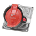 Legrand Right Angle Switchable IP44, IP55 Industrial Interlock Socket 3PN+E, 16A, 415 V