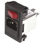 Bulgin,10A,250 V ac Male Snap-In IEC Filter BZV01/A0620/02 1 Fuse