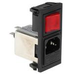 Bulgin,6A,250 V ac Male Snap-In IEC Filter 1 Pole BZV01/A0620/11 1 Fuse