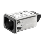Schurter,1A,250 V ac Male Snap-In Filtered IEC Connector 5120.2000.0 None Fuse