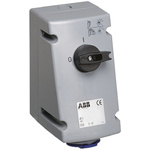 ABB Switchable IP44 Industrial Interlock Socket 2P+E, Earthing Position 6h, 16A, 250 V