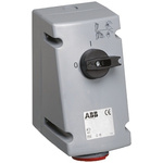 ABB Switchable IP44 Industrial Interlock Socket 3PN+E, Earthing Position 6h, 16A, 415 V