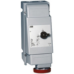 ABB Switchable IP67 Industrial Interlock Socket 3PN+E, Earthing Position 6h, 63A, 415 V