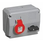 ABB Horizontal Switchable IP44 Industrial Interlock Socket 3P+E, 16A, 380 → 415 V
