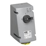 ABB Vertical Switchable IP44 Industrial Interlock Socket 2P+E, 16A, 100 → 130 V