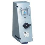 ABB Vertical Switchable IP44 Industrial Interlock Socket 2P+E, 16A, 200 → 250 V