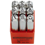 Facom 5mm x 9 Piece Engraving Punch Set, (0 → 9)