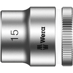 Wera 15mm Hex Socket With 3/8 in Drive , Length 29 mm