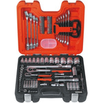 Bahco S-910 91 Piece Socket Set, 1/2 in, 1/4 in Square Drive