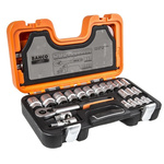 Bahco S-240 24 Piece Socket Set, 1/2 in Square Drive