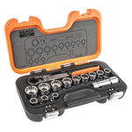 Bahco S140T 14 Piece Socket Set, 3/4 in Square Drive