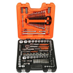 Bahco S138 138 Piece Socket Set, 1/2 in, 1/4 in, 3/8 in Hexagon Drive