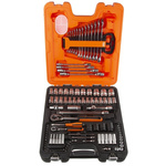 Bahco S108 108 Piece Socket Set, 1/2 in, 1/4 in Square Drive
