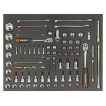 Bahco FF1A5005 83 Piece Socket Set, 1/2 in, 1/4 in, 3/8 in